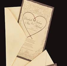 Ivory Rope Heart Western Wedding Invitations