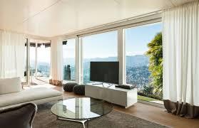 Vorhã Nge Wohnzimmer Tipps Fernseher Vor Fenster Aufstellen Tv Gerät Im Wohnzimmer