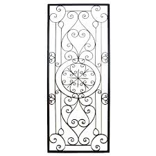 Tuscan Decorative Wall Plates by Articles With Metal Wall Decor Outdoor Tag Iron Wall Decor Metal