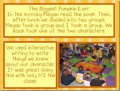 The Biggest Pumpkin Ever By Steven Kroll by Interactive Writing The Biggest Pumpkin Ever Character Comparison