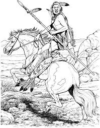 Native American Coloring Pages For Adults Printable