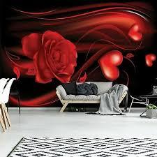 vlies fototapete herz blumen rot abstrakt schlafzimmer