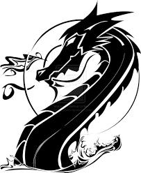 Stunning Tribal Chinese Dragon Tattoo Sample