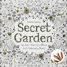 Secret Garden An Inky Treasure Hunt And Coloring Book By Johanna Basford Paperback English Version 12 Pencils Sharpener In Books From Office School