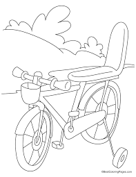 My Favorite Bicycle Coloring Page