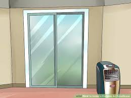 Portable Sliding Door Image Titled Install A Portable Air