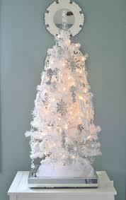 Winter White Wonderland Tabletop Christmas Tree