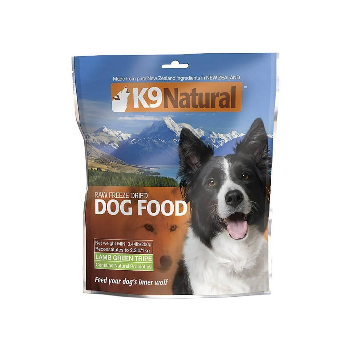K9 Raw Freeze Dried Natural Dog Food - Lamb Green Tripe, 0.44lb