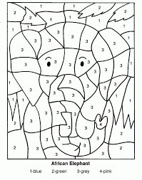 Coloring Pages For Teenagers Difficult Color By Number In Online Hard