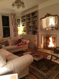 Formal Yet Cozy Living Room With A Roaring Fire Favorite Little