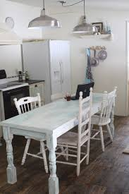 Shabby Chic Dining Room Table And Chairs by A Shabby Farmhouse Paint Finish