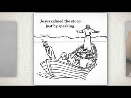 Jesus Calms The Storm Craft Card For Children
