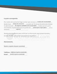 Formato Carta Recomendacion