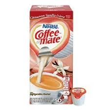 Coffee Mate Creamer Cinnamon Vanilla 038 Oz 50 Bx 9063952