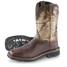 justin men u0027s rugged tan cowhide stampede waterproof square toe