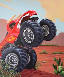 Murals / Theme Rooms - Flying Colors Murals Monster Truck Bedding Queen Size Bedroom Blazethe Machines Blue Wall Sticker Cool Vehicle Decal Boys Unique Purple Toddler Bed With Staircase Set In Brown Hot Wheels Jam 164 Assorted The Warehouse Personalised Name Or Girls Flag Racing Decor Hotwheels 68501 8 Lovely Hot Wheels Matchbox Cars 12 Creative For 2018 Home Design Interior Grave Digger In Pinterest Room Monster Truck Birthday Party Ideas Moms Spiderman Diecast Metal Walmartcom