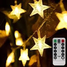 weihnachtsstern lichterkette batteriebetrieben 50 leds 5