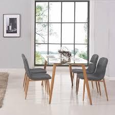 table de cuisine 4 chaises pas cher chaise de table table manger en verre 4 chaises scandinave loa achat