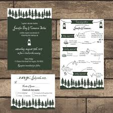 Printable Rustic Lantern Wedding Invitation Kit By ZSDesign