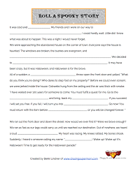 Halloween Mad Libs Free by Spooky Story Fill In The Blank Parents Scholastic Com