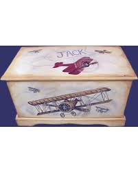 spectacular deal on vintage airplane toy chest custom designed