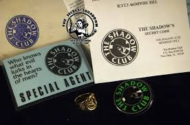 The Shadow Club Membership Kit Includes An Illustrated Mailing Envelope A Pinback Button With In Green Over Black