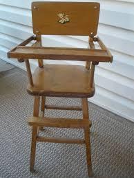 Vintage Doll's High Chair, Wood, Appleton, Nice 26