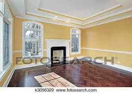 wohnzimmer mit gelbe wände stock foto k3056329 fotosearch