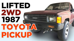 100 1987 Toyota Truck Lifted 2wd Pickup YouTube