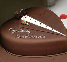 Heart Shape Birthday Cake for Husband