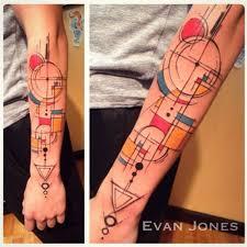 Piet Mondrian Yann Black Inspired Piece By Evan Jones First Place Tattoos Hackettstown NJ