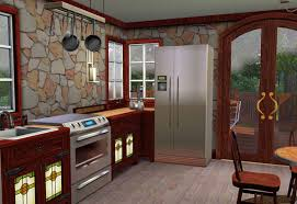 sims 3 craftsman style cottage kitchen compatible with mission