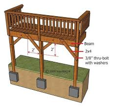 Floor Joist Bracing Spacing by Inspecting A Deck Illustrated Internachi