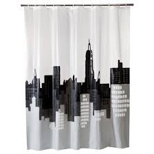 White And Gray Curtains Target by City Scape Shower Curtain Gray White Room Essentials Target