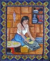outdoor mexican tile murals tile mural sku 88054 price 169 00