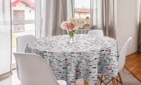 abakuhaus tischdecke kreis tischdecke abdeckung für esszimmer küche dekoration liebe kalligraphie herz kaufen otto
