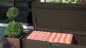 134 gallon extra large deck box suncast corporation