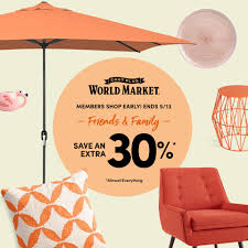 Cost Plus World Market Friends & Family Coupon Code: Extra 30% Off ... 28 Proven Cost Plus World Market Shopping Secrets The Krazy Coupon 40 Off Coupons Promo Discount Codes Wethriftcom Tint World Cary Code For Mermaid Swim Tails Save Money With Direct Cbd Online Coupon Get Now Coupons Lady Best Black Friday Sales Home Decor Fniture Peoplecom Market Archives Addisons Woerland On Itunes Baja Fresh And More Encino How To Develop A Successful Marketing Strategy Increase Hello Kitty Collecvideosinspiration Ecommerce Promotions 101 For 20 Growth