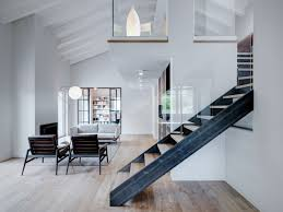 100 Mezzanine Design DoubleHeight Loft With Wood Iron And Glass Staircase To