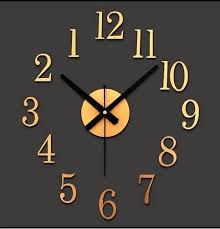 Decorator Wall Clocks Reversed Motor Diy Digital Clock Decorative Stickers Clockwise Fashion Watches Creative Cute When Reversing