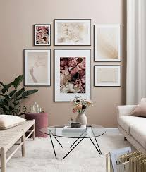 inspiration für schöne wohnzimmer bilderwand mit postern