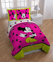 Minnie Mouse Bedding by Disney Minnie Neon Twin Full Comforter Home Bed U0026 Bath