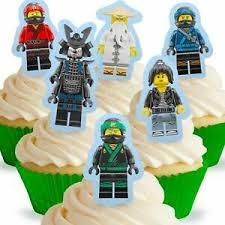 details zu cakeshop 12 x essbare aufrecht stehende lego ninjago kuchen dekoration
