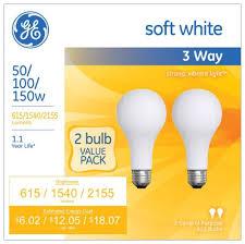 ge lighting 97763 50 100 150 watt 615 1540 2155 lumen a21 3 way
