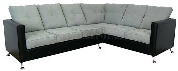 vinyl sectional sofa acme collection two tone dark gray corduroy