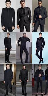 Mens Black Suits With Shirts And Ties Outfit Inspiration Lookbook