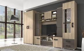 wohnwand bastian mit kleiderschrank anbauwand wohnzimmer set tv schrank led