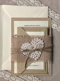Beautiful Rustic Wedding Invitations With Lace Or 18 Diy Burlap