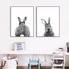 fett kaninchen foto kunstwerk malerei poster druck dekorative wand bilder für wohnzimmer kein rahmen home dekoration zubehör