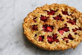 cuisine canada the strawberry rhubarb pie for canada day